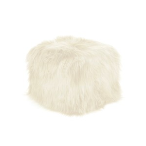 The Interior Christmas Wishlist. island-sheep-skin-cube-pouf-long-hair-white