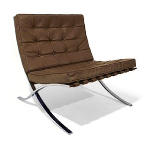 The 1930's iconic Barcelona easy chair by ludwig mies van der rohe