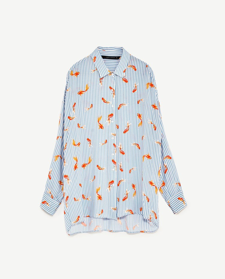 Zara oversized printed shirt
