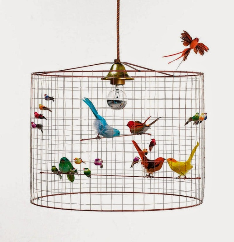 The Lusting Life - How to make a DIY birdcage lampshade. Inspiration, Mathieu Challières birdcage lamp 7