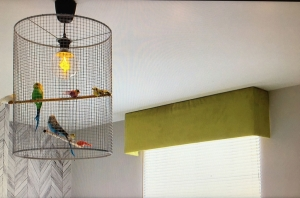 The Lusting Life - How to make a DIY Birdcage Lampshade, Anna Straw's birdcage light close-up in Joseph's house on the GIDC