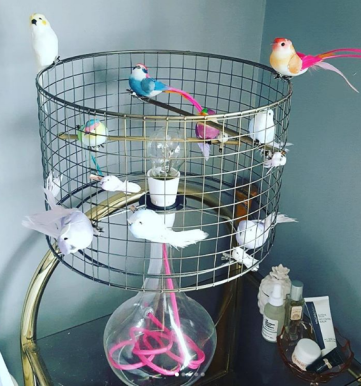 The Lusting Life - How to make a DIY Birdcage Lampshade, copper shade version before spray-painting