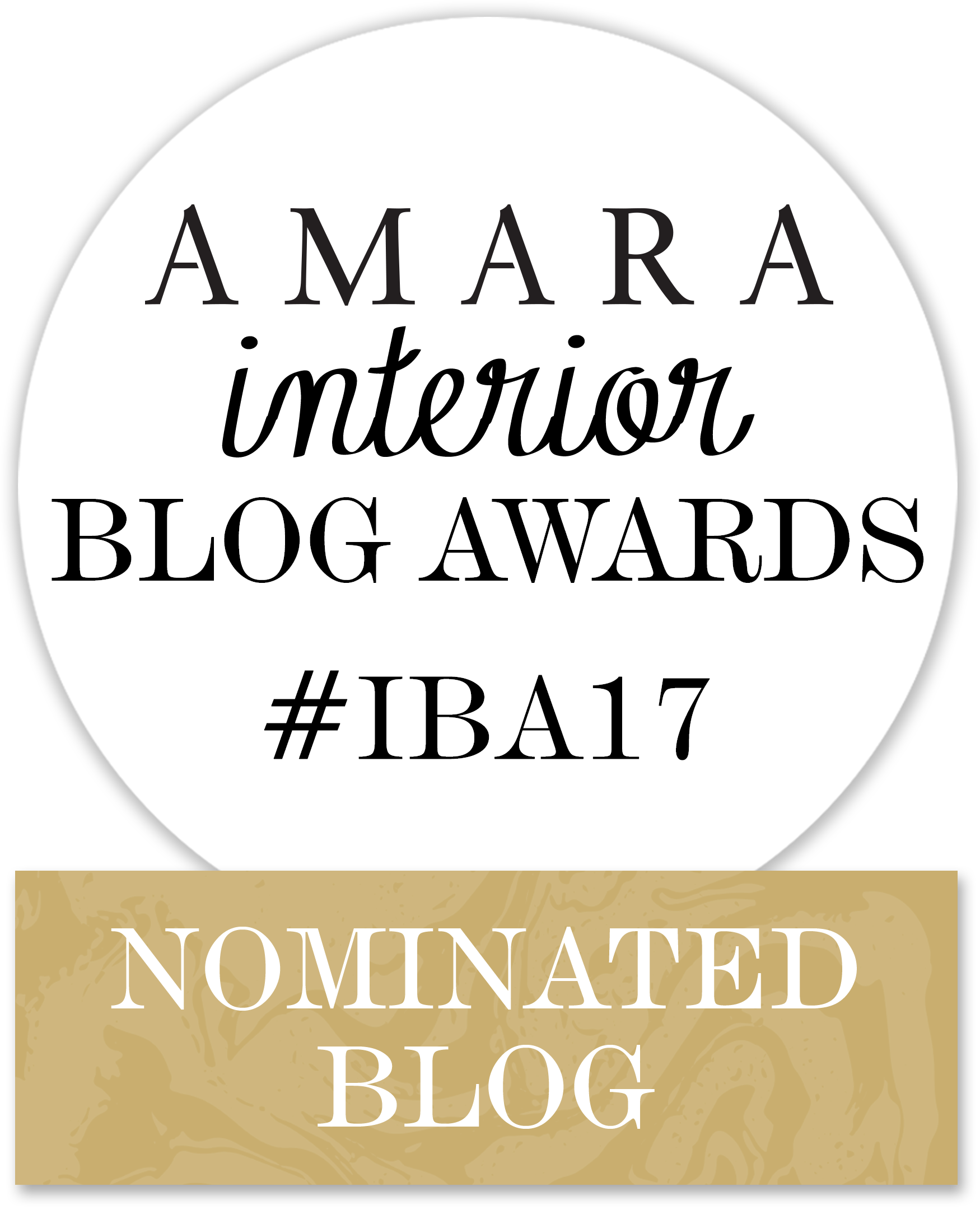 The Lusting Life blog has been nominated for an Amara interiors 2017 blog award