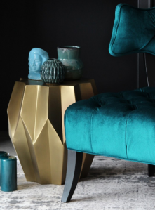 My Top 5 Interior Trends I'm Loving, rockett st george gold Midas table